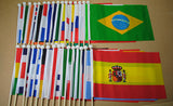 Central African Republic Fabric National Hand Waving Flag  - United Flags And Flagstaffs