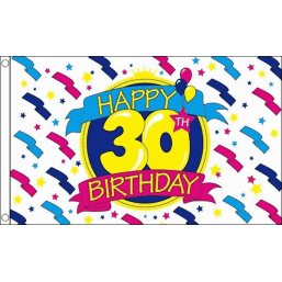 Happy Birthday Flag - 30