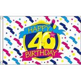 Happy Birthday Flag - 40