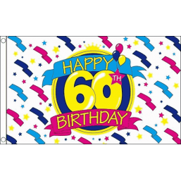 Happy Birthday Flag - 60