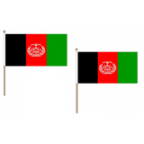 Afghanistan Fabric National Hand Waving Flag  - United Flags And Flagstaffs