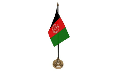 Afghanistan Table Flag Flags - United Flags And Flagstaffs