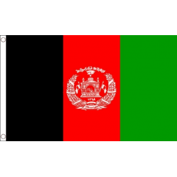 Afghanistan National Flag - Budget 5 x 3 feet Flags - United Flags And Flagstaffs