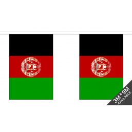 Afghanistan Flag Fabric Bunting Flags - United Flags And Flagstaffs