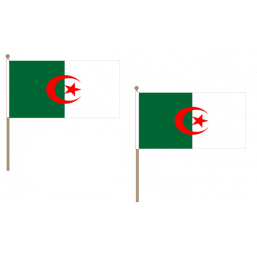 Algeria Fabric National Hand Waving Flag  - United Flags And Flagstaffs