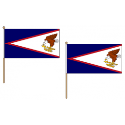 American Samoa Fabric National Hand Waving Flag  - United Flags And Flagstaffs