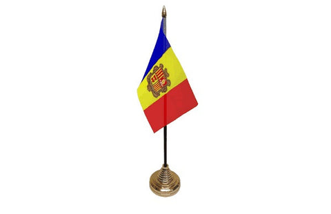 Andorra Table Flag Flags - United Flags And Flagstaffs
