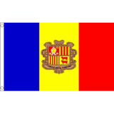 Andorra National Flag - Budget 5 x 3 feet Flags - United Flags And Flagstaffs