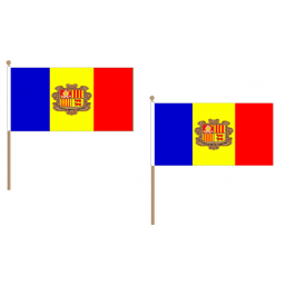 Andorra Fabric National Hand Waving Flag  - United Flags And Flagstaffs