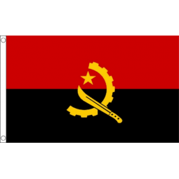 Angola National Flag - Budget 5 x 3 feet Flags - United Flags And Flagstaffs