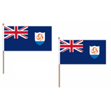 Anguilla Fabric National Hand Waving Flag  - United Flags And Flagstaffs