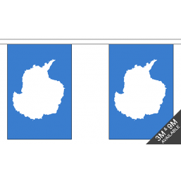 Antarctica Flag  - Fabric Bunting Flags - United Flags And Flagstaffs