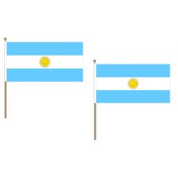 Argentina Fabric National Hand Waving Flag  - United Flags And Flagstaffs