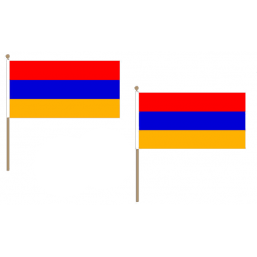 Armenia Fabric National Hand Waving Flag  - United Flags And Flagstaffs