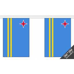 Aruba Flag  - Fabric Bunting Flags - United Flags And Flagstaffs