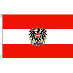 Austria (State) National Flag - Budget 5 x 3 feet Flags - United Flags And Flagstaffs