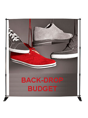 Back Drop Budget - Tension Banner Banners - United Flags And Flagstaffs