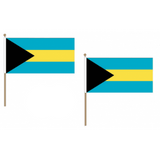Bahamas Fabric National Hand Waving Flag  - United Flags And Flagstaffs