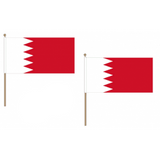 Bahrain Fabric National Hand Waving Flag  - United Flags And Flagstaffs
