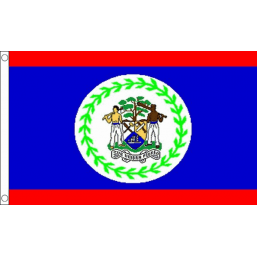 Belize National Flag - Budget 5 x 3 feet Flags - United Flags And Flagstaffs