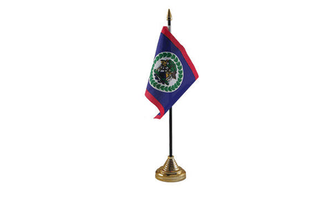 Belize Table Flag Flags - United Flags And Flagstaffs