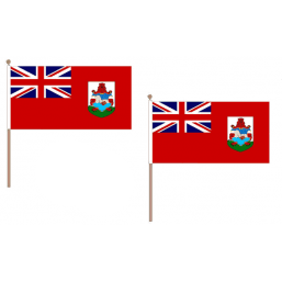 Bermuda Fabric National Hand Waving Flag  - United Flags And Flagstaffs