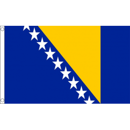 Bosnia & Herzegovina National Flag - Budget 5 x 3 feet Flags - United Flags And Flagstaffs