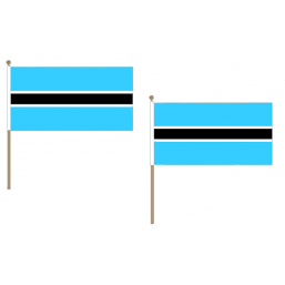 Botswana Fabric National Hand Waving Flag  - United Flags And Flagstaffs