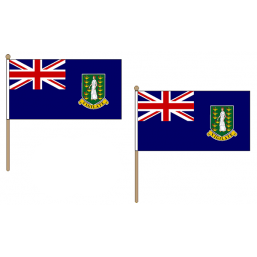 British Virgin Isles Fabric National Hand Waving Flag  - United Flags And Flagstaffs