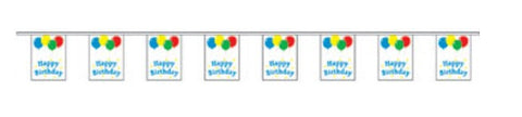 Economy Fabric Bunting - Happy Birthday Flags - United Flags And Flagstaffs