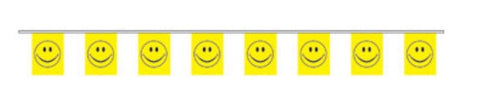 Economy Fabric Bunting - Happy Face Flags - United Flags And Flagstaffs