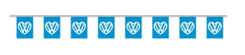 Economy Fabric Bunting - I Love VW Flags - United Flags And Flagstaffs