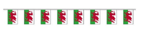 Economy Fabric Bunting - Wales Flag Flags - United Flags And Flagstaffs