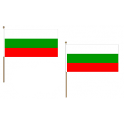 Bulgaria Fabric National Hand Waving Flag  - United Flags And Flagstaffs