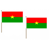 Burkina Faso Fabric National Hand Waving Flag  - United Flags And Flagstaffs