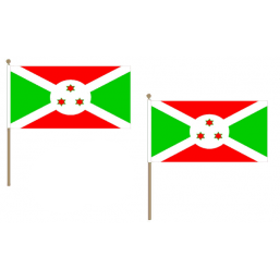 Burundi Fabric National Hand Waving Flag  - United Flags And Flagstaffs