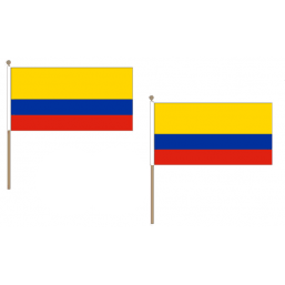 Colombia Fabric National Hand Waving Flag  - United Flags And Flagstaffs