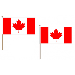 Canada Fabric National Hand Waving Flag  - United Flags And Flagstaffs