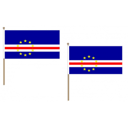 Cape Verde Fabric National Hand Waving Flag  - United Flags And Flagstaffs
