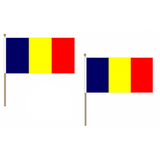 Chad Fabric National Hand Waving Flag  - United Flags And Flagstaffs