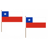 Chile Fabric National Hand Waving Flag  - United Flags And Flagstaffs