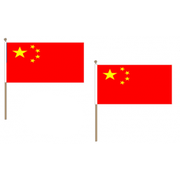 China Fabric National Hand Waving Flag  - United Flags And Flagstaffs