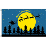 Christmas Flag - Christmas Moon Flags - United Flags And Flagstaffs