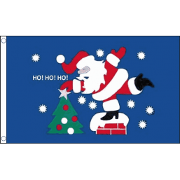 Christmas Flag - Ho Ho Ho Flags - United Flags And Flagstaffs