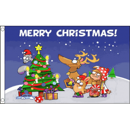Christmas Flag - Christmas Scene Flags - United Flags And Flagstaffs