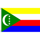 Comoros National Flag - Budget 5 x 3 feet Flags - United Flags And Flagstaffs