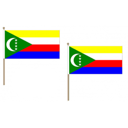 Comoros Fabric National Hand Waving Flag  - United Flags And Flagstaffs