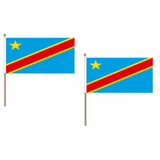 Congo DR Fabric National Hand Waving Flag  - United Flags And Flagstaffs