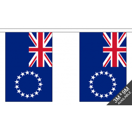 Cook Islands Flag - Fabric Bunting Flags - United Flags And Flagstaffs