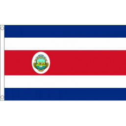 Costa Rica (State) National Flag - Budget 5 x 3 feet Flags - United Flags And Flagstaffs